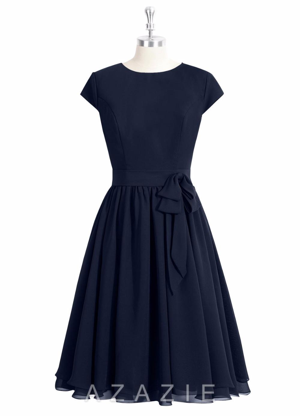 Achetez en gros marine bleu demoiselles d 39 honneur robes en ligne des grossistes marine bleu - Robe demoiselle d honneur bleu marine ...