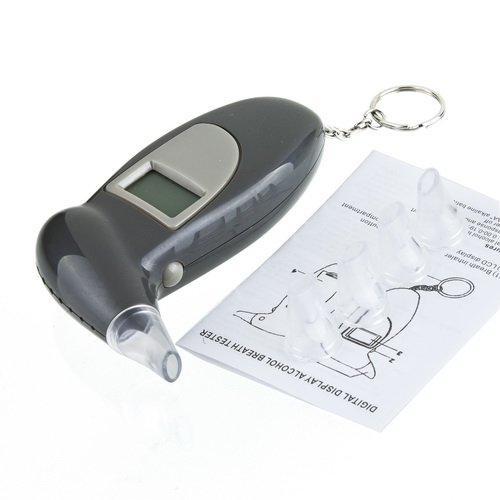 NEW Professional LCD Display Digital Breath Alcohol Tester Breathalyser free shipping(China (Mainland))