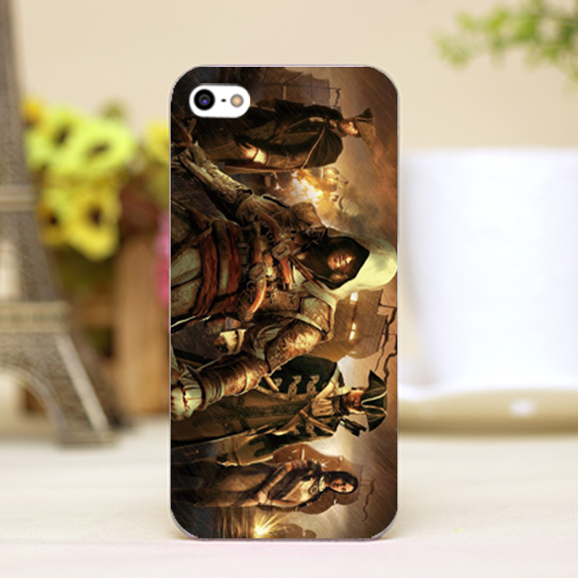 pz0021 16 Assassins game Design Customized font b cellphone b font transparent cover cases for 4