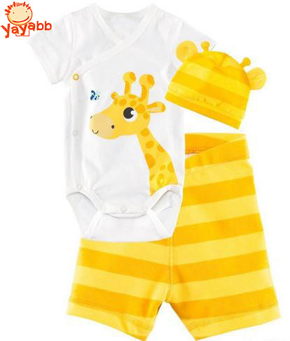 Newborn Baby Girl Outfits Infant Clothing Baby Girl Summer Clothes (Romper+Headband+Pants)(China (Mainland))