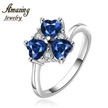 R640-B  Silver plated new design finger ring for lady