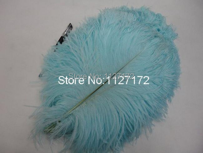Free Shipping 100pcs Light blue Ostrich Feathers 30-35cm 12-14 inches Vase Feathers Ostrich Drabs for wedding centerpieces(China (Mainland))