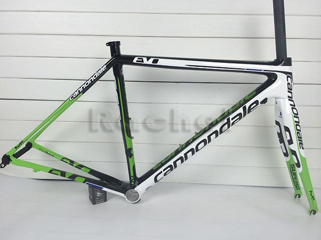 road bike carbon road frame supersix evo bicycle frameset white green black full carbon fiber road
