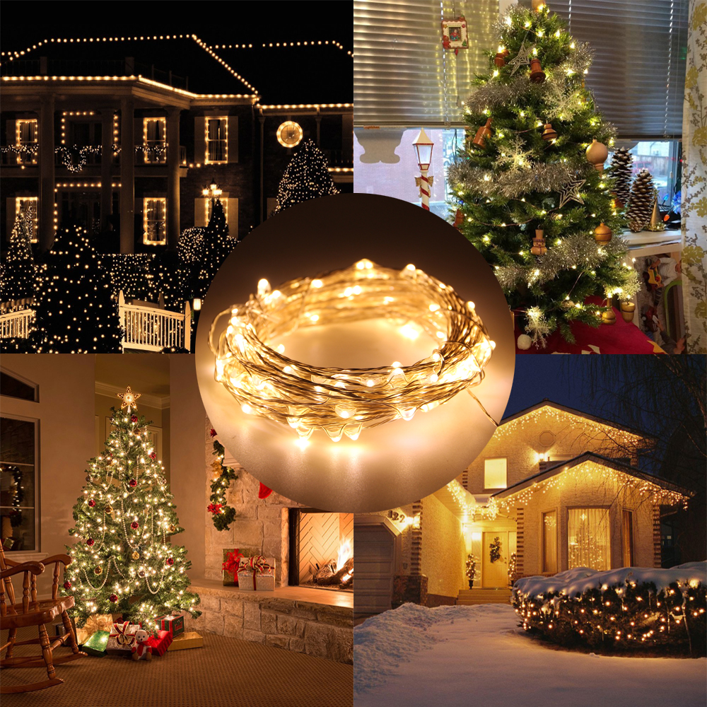 USB LED String Light 33FT 10M 100LEDs Copper Wire String Fairy Light Indoor Outdoor Christmas Party Wedding Lighting Decoration(China (Mainland))