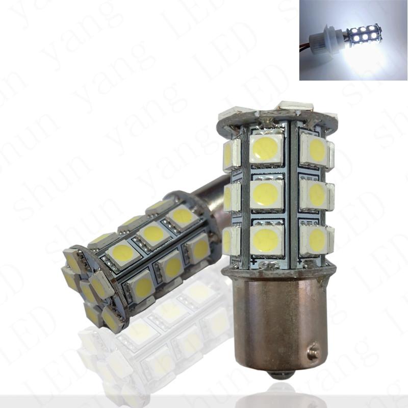 10pcs 1156 1157 27smd 5050 BA15S BAY15D BAU15S P21W P21/5W led Car Brake Parking Tail Turn signal light bulb12V #LF05(China (Mainland))