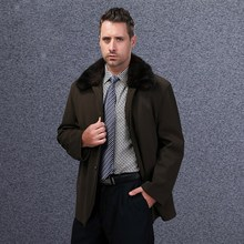 Men Winter Down Jackets 2015 New Outwear Thick Brand Slim Large Size M-3XL Long Fashion Business Coats E1620