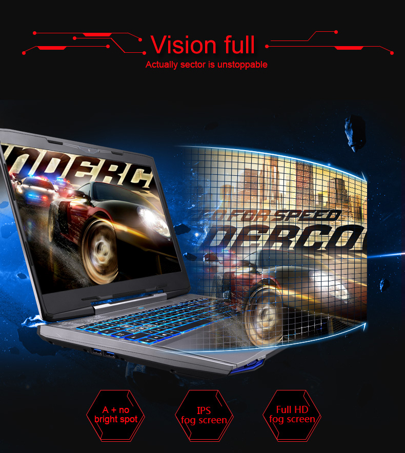 "HTB1CIBwQpXXXXXiapXXq6xXFXXX3 - Machenike F117-F6K Gaming Laptop Notebook 15.6"" Intel Core i7-7700HQ GTX1060 6GB Video Memory 8GB RAM 256GB SSD Backlit Keyboard"