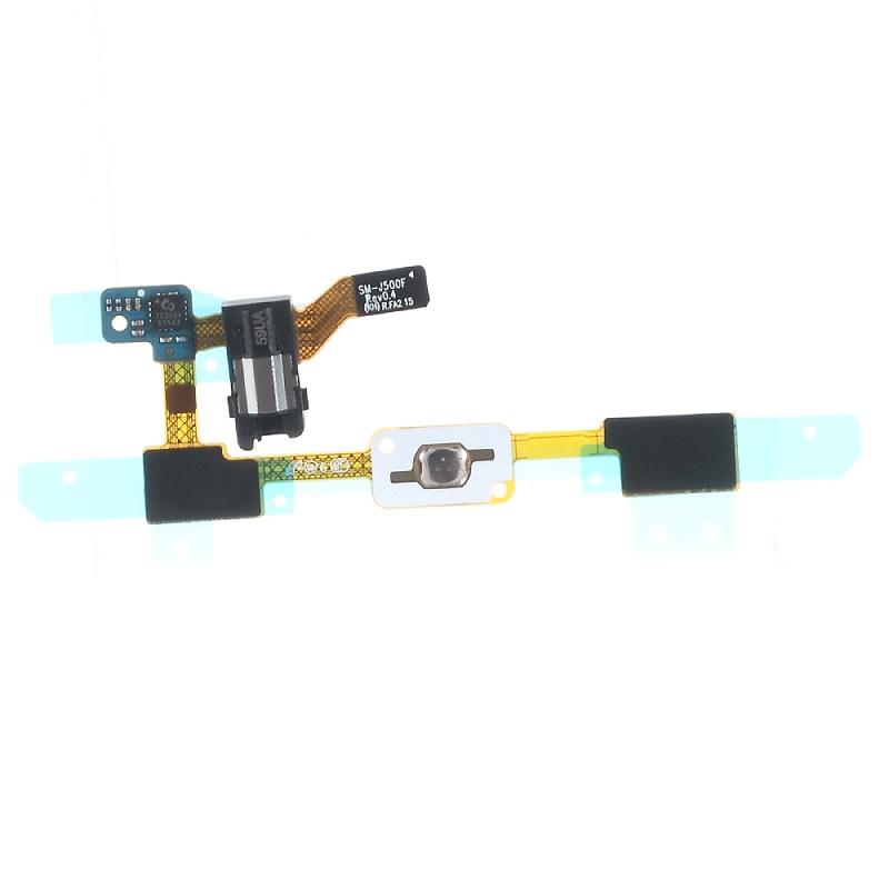 Mobile Phone Parts for Galaxy J 5 SM-J500F OEM Earphone Jack + Navigator Keypad Sensor Flex Cable for Samsung Galaxy J5 SM-J500F(China (Mainland))