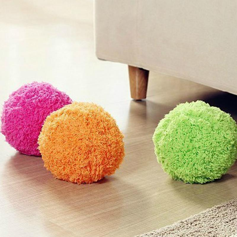 New Automatic rolling ball Microfiber Robotic Mop Ball Mini Vacuum Cleaner Automatic Floor Sweeper Four Color Mop Ball(China (Mainland))