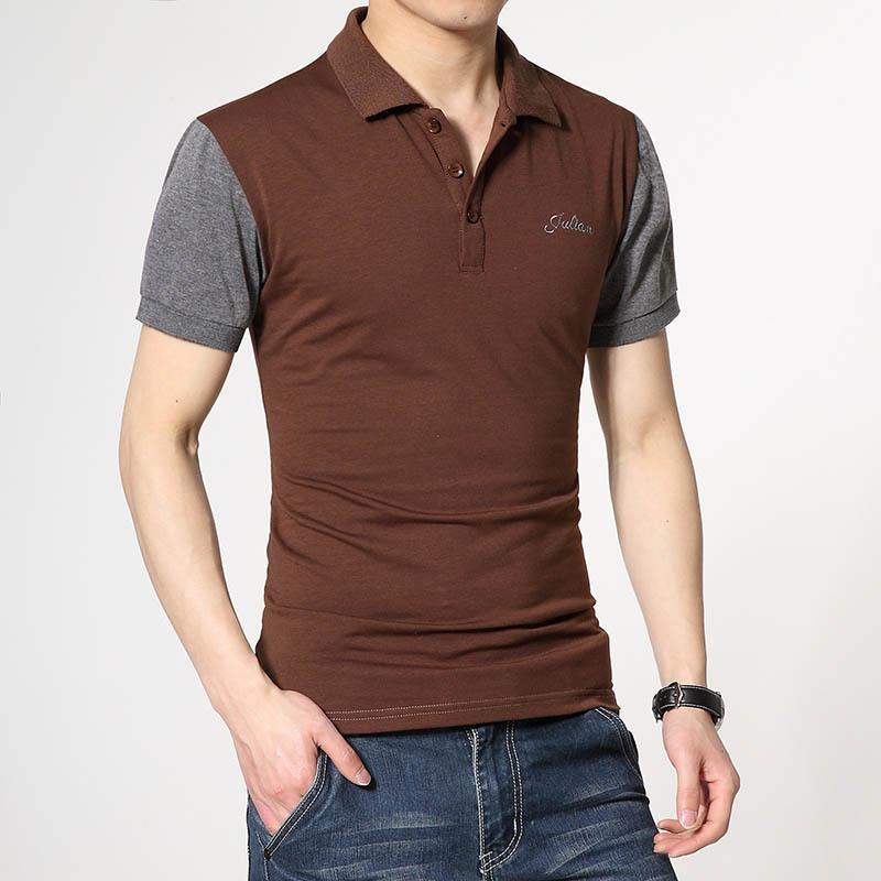 New Men S Polo Shirt Fashion Polo Cotton Stand Collar