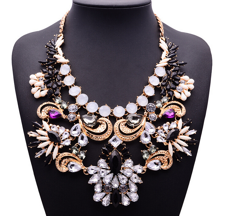 2015 New Arrival za Brand Big Big Luxury Statement Pendant Necklace Women Accessories Clain Collar Women 9282(China (Mainland))