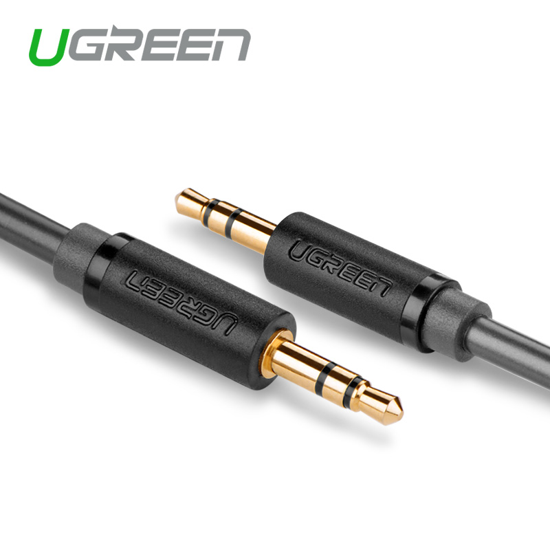 Ugreen 3.5mm to 3.5 mm Aux Cable Male to Male stereo Audio Cable for iPhone iPod Car Headphone MP4 MP3(China (Mainland))
