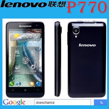 "original Lenovo P770 phone MTK6577 Dual Core 4.5"" Android 4.1 IPS Mobile Phone 1GB/4GB Support 3500mAh"