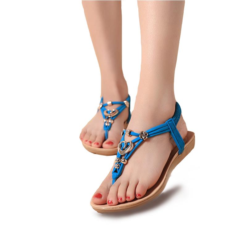 women sandals Shoes Woman Gladiator Sandals Summer Flip Flops Shoes 2016 Fashion Footwear Blue(China (Mainland))
