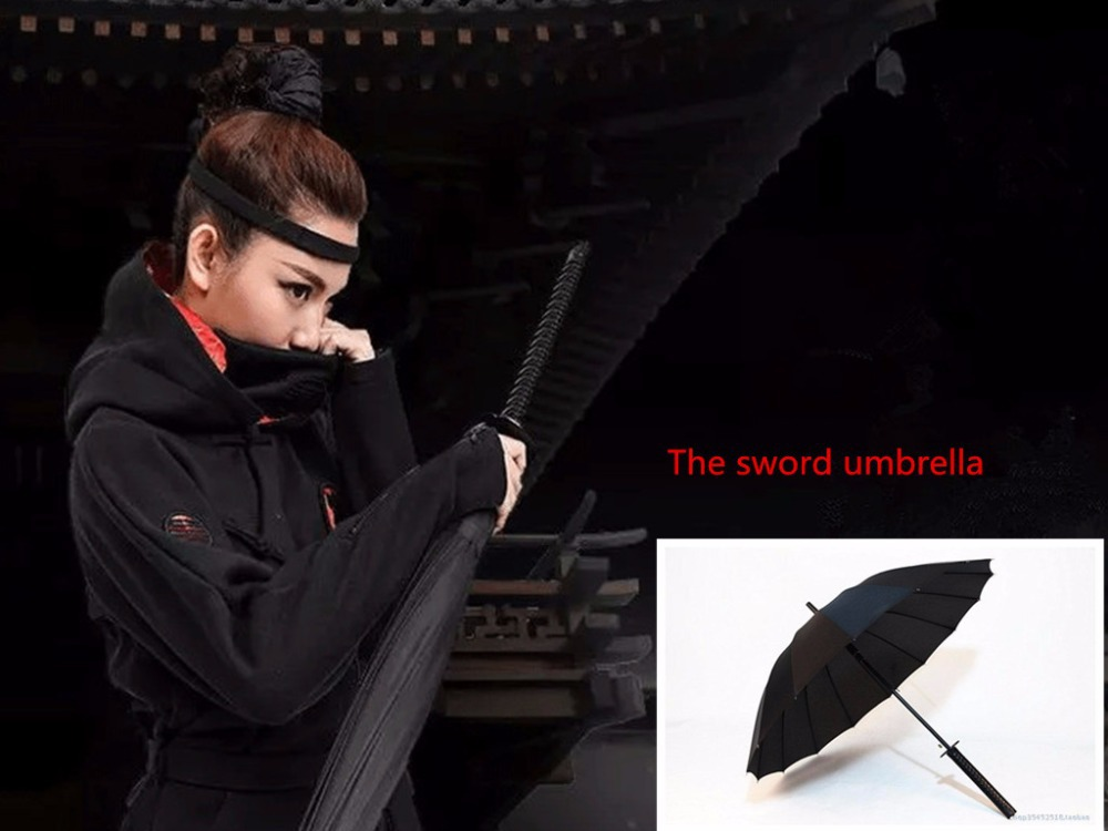 DHL fedex Free Shipping 50PCS /Samurai sword umbrella poleaxe sword umbrella(China (Mainland))