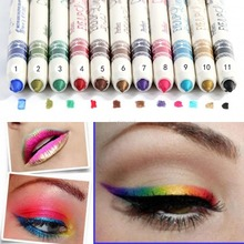 Hot Waterproof Shimmer Eye Shadow Pencil Makeup Tool 12 Color