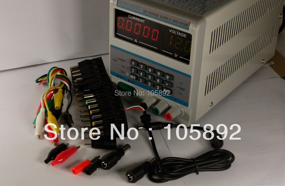 Free shipping 305BF 5Ps mA Display 220V/110V Lab Programmable DC Power Supply 30V 5A with 39pcs Laptop Repair DC Jack<br><br>Aliexpress