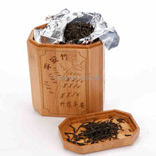 free shipping storage bottle jar Creative carbonized bamboo gift tea pot storage tank sealed can craft Home Storage(China (Mainland))