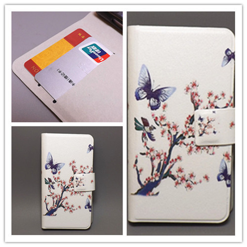 Ultra thin Flower Flag vintage Flip Nokia Lumia 610 N610 cell phone Case , - leather case111 store