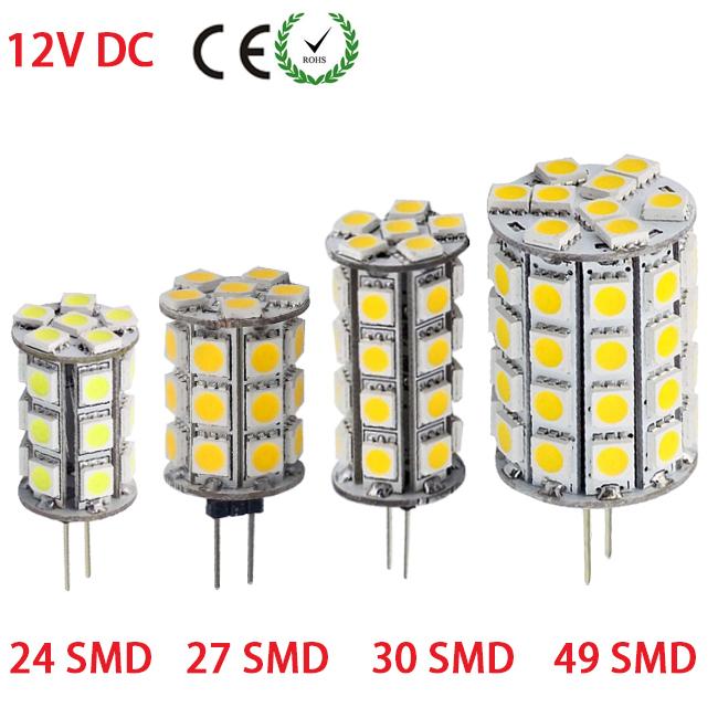 G4 5050 Dimmable 12V DC Led Tower Lamp 24/27/30/49 Leds Chandelier Home Lighting Spotlight 2800K-3500K/5500-6500K Lamps(China (Mainland))