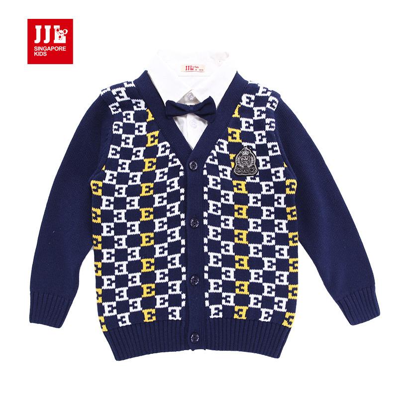 babys boys false two gentleman cardigan temperament sweaters size 1,5  years(China (