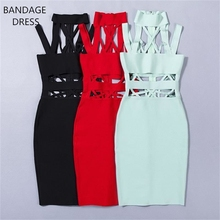 Buy 2017 BANDAGE DRESS Sexy New Women Summer Dress Hole Sleeveless Hollow High Bandage Dress Wholesale HL J283 for $18.48 in AliExpress store