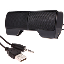 Mini Portable Clipon USB Stereo Speakers line Controller Soundbar for Laptop Notebook Mp3 Phone Music Player PC with Clip INGT