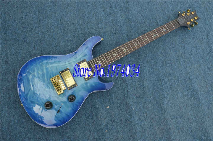 FREE SHIPPING!! New Guitar! blue burst PRS model Paul Reed smith IN STOCK,China guitars,musical instrument,OEM guitars!(China (Mainland))