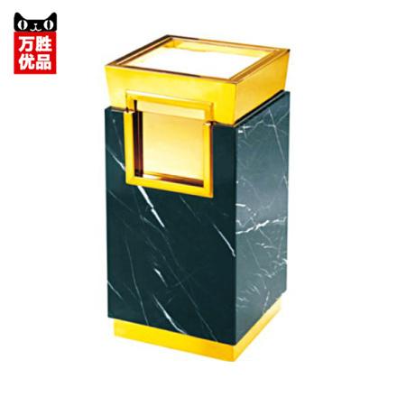 Marble floor ash barrels hotel's stylish lobby peel barrels titanium garbage trash bins(China (Mainland))