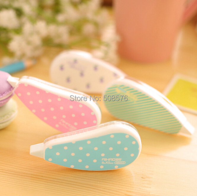 New Fresh design candy color correction tape beautiful correction sticker 30m long tape for students writing correcting<br><br>Aliexpress