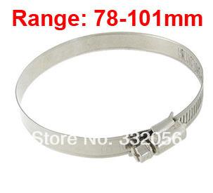 Adjustable 78-101mm Range Metal Worm Drive Hose Clamp<br><br>Aliexpress