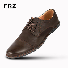 2016 FRZ Men Casual Shoes Action Leather Men Flats Shoes Breathable Fashion Oxford Shoes For Men Zapatos Hombre Big SizeYM86824B