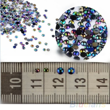 Hot Sale 300pcs 3D Nail Art Tips gems Crystal Glitter Rhinestone DIY Decoration Wheel 1D9G