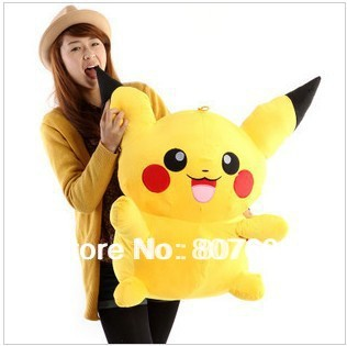 "Free shipping lovely Plush toy cartoon toy pokemon pikachu plush doll pillow birthday gift size 50cm ( 19.6"")"
