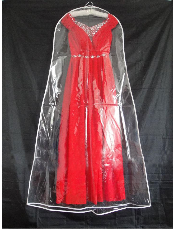 Hot New Wholesale Transparent Wedding Dress Dust Cover Omniseal Extra Large Waterproof PVC 180cm Solid Wedding Garment Bag DC126(China (Mainland))