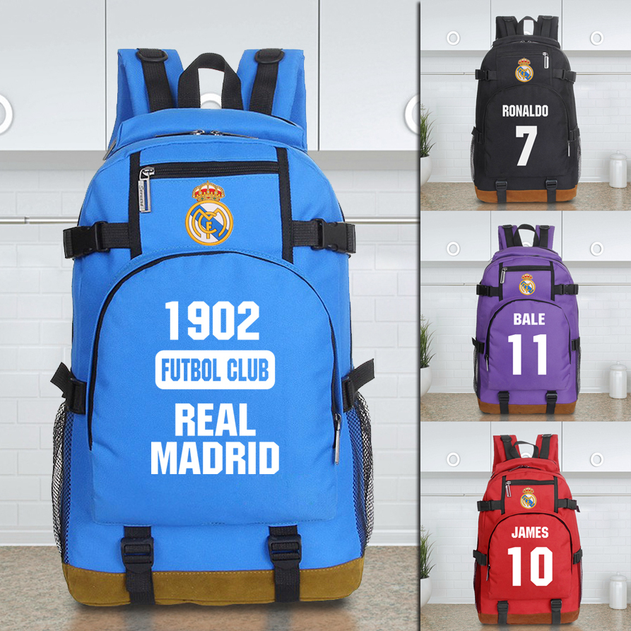 Free Shipping High Quality New Arrival Real Madrid Backpack Fashion Soccer Football Backpack Boy Girl School Bag Sports Bag(China (Mainland))