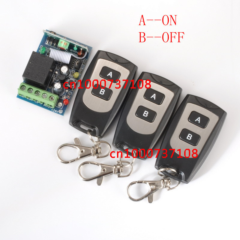 Free shipping 12V 1ch rf wireless remote control switch 1 receiver &amp;3 Transmitter for Entrance guard door easy to install z-wave<br><br>Aliexpress