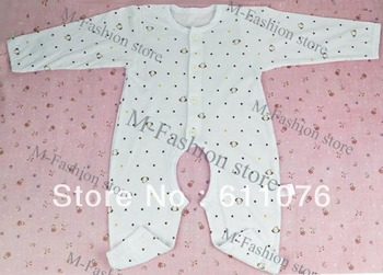 5pcs/lot New Infant Baby Jumpers Cloths 3-12 Months Romper Baby Sleep Suit 3 Colors Free shipping 11170