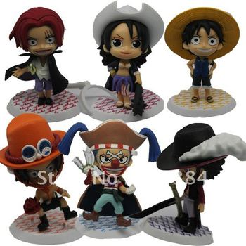 One piece figures 6pcs set Japan Anime Cartoon Toys,Action Figure One Piece Model Collection,Christmas day gifts,toys