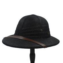 Mode Vietam guerre armée chapeau femmes hommes britannique Explorer paille casque été plaisancier seau soleil chapeau unisexe Jungle mineurs Cap CP0210(China)