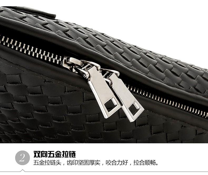 Men Business Synthetic Leather Weaving Briefcase Male Travel Messenger Shoulder Portfolio Laptop Bags Causal Lawer Handbag Bolsa (28)