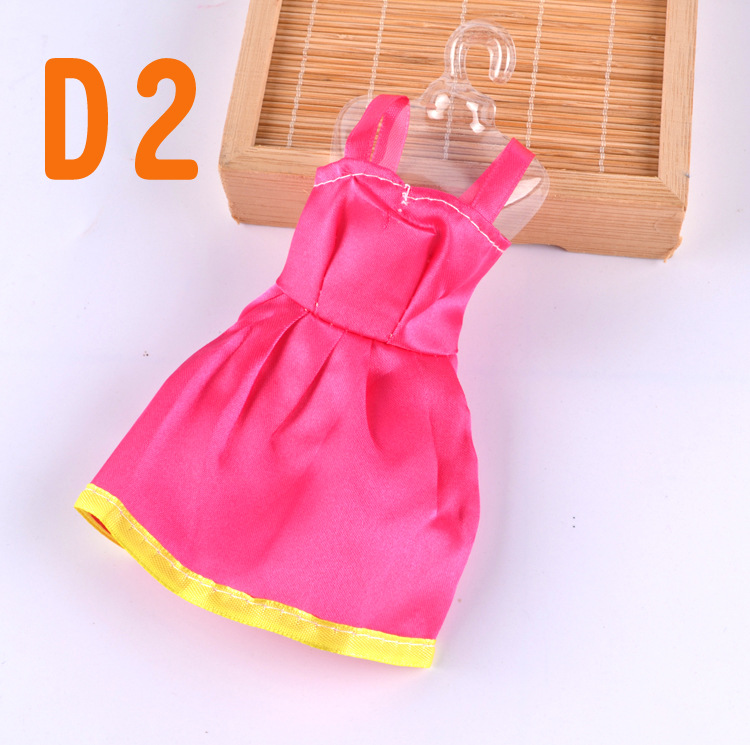 10pcs/lot Handmade One Piece Gown Vogue Clothes Robe For Barbie doll Child's Playhouse Finest Present