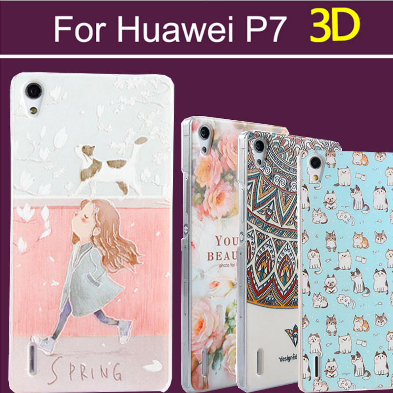 Гаджет  3D high quality Huawei Ascend P7 Cover case PC,Fashion 22 colors Cover Case for Huawei Ascend P7 phone cases p7-08 None Телефоны и Телекоммуникации
