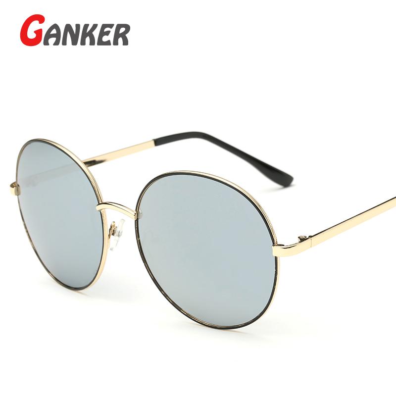 2016 New GANKER Wholesale General Women Men Sunglasses Round Metal Anti-Reflective UV400 Sun Glasses Hot Sale Fashion Eyewear(China (Mainland))