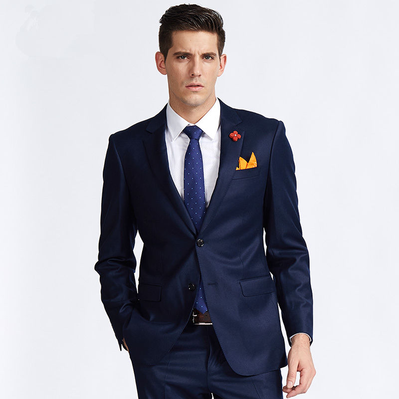 Compare Prices on Dark Blue Slim Fit Suit- Online Shopping/Buy Low