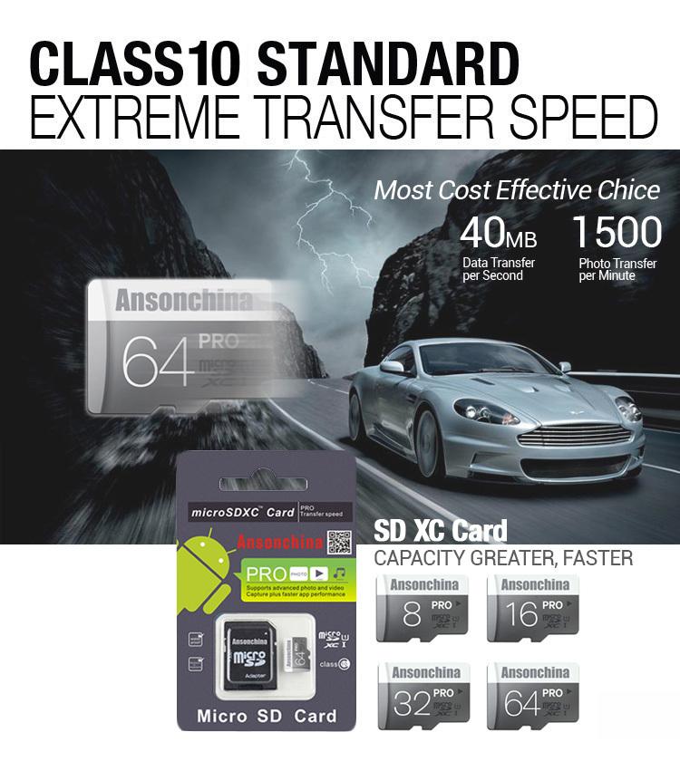 100% real capacity Gary 64G 8G 16G 32G SDHC Micro SD Memory Cards Flash Ultra Micro SDXC TF card Pass H2testw !!(China (Mainland))