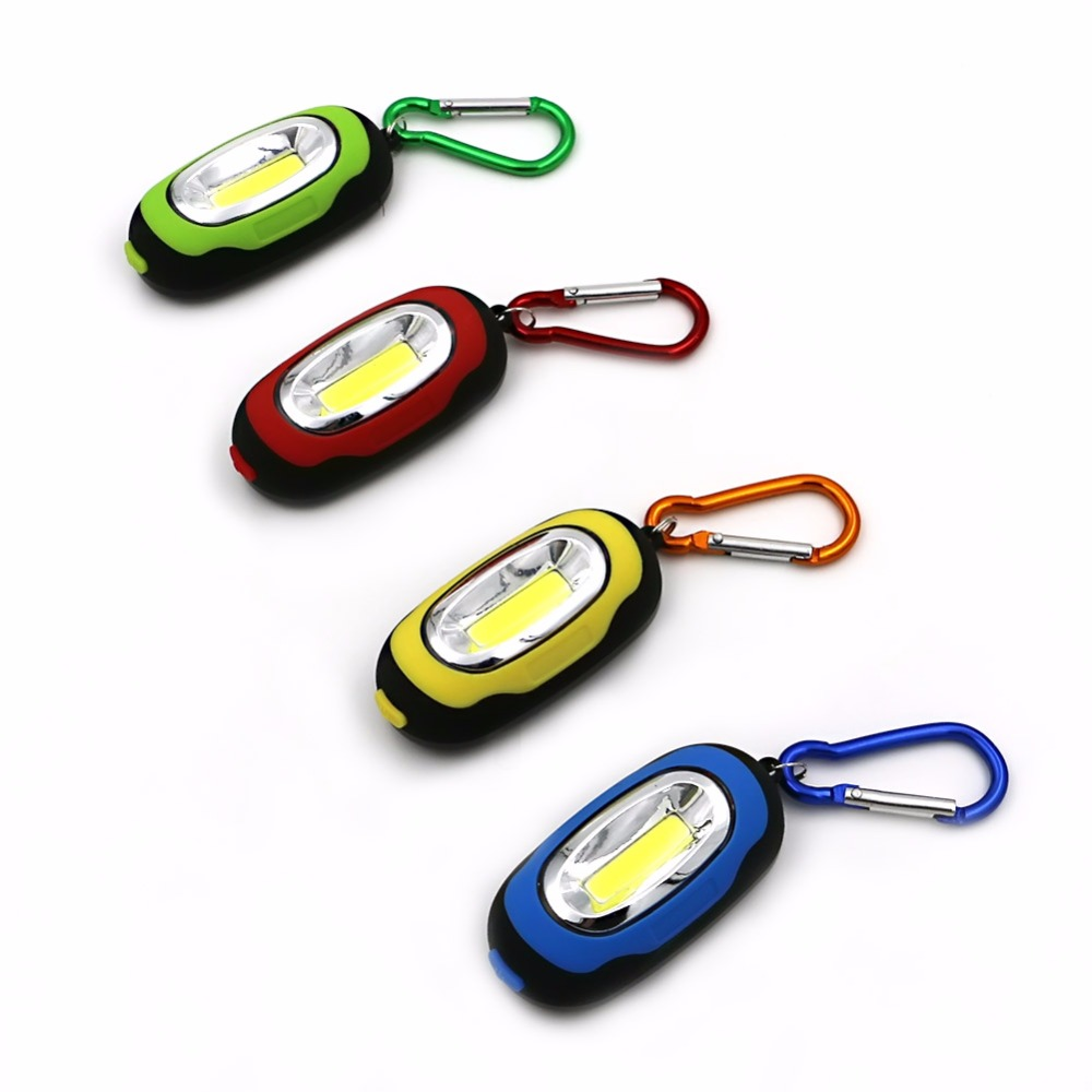 Multi-function COB Led Flashlight Portable Mini Keychain Pocket Handly Torch Light Flashlight Lamp Multicolor Mini-Torch