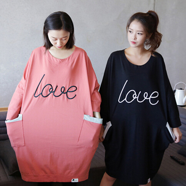 Online get cheap cotton night shirts for Long sleep shirts cotton