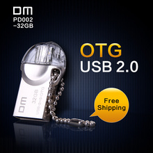 DM PD002 USB Flash Drive 32G OTG Smartphone Pen Drive Micro USB Portable Storage Memory Metal waterproof USB Stick Free shipping