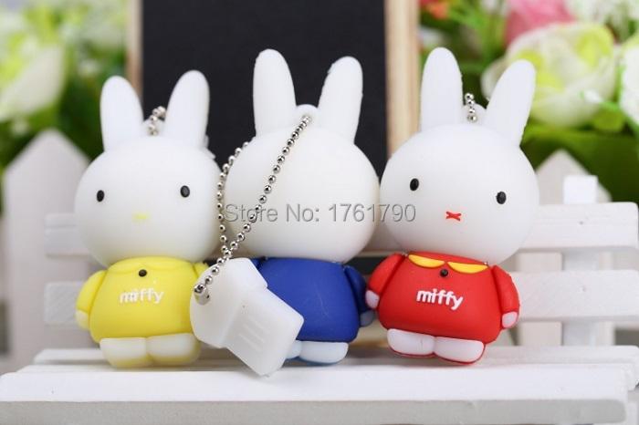 High Speed Cartoon Rabbit USB Flash Drives USB 2.0 Pen Drive 32GB/16GB/8GB/4GB U disk(China (Mainland))